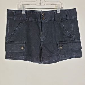 Calvin Klein Jean Shorts Cargo Dark Wash Pockets